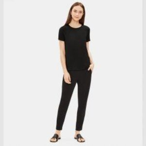 EILEEN FISHER black pull on high waist pant M